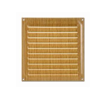 Rejilla ventilación marrón 15x15