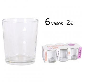 Vaso Old Fashion 27 cl. pack 6 piezas