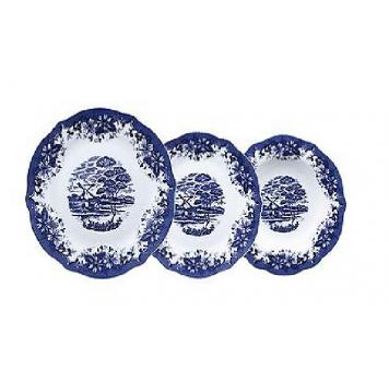 Vajilla Skye Blue 18 piezas