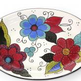 Bandeja Flor Eva Ovalada 39x28