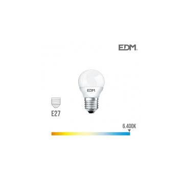 Lámpara Led esférica E-27 5 W Luz Fria