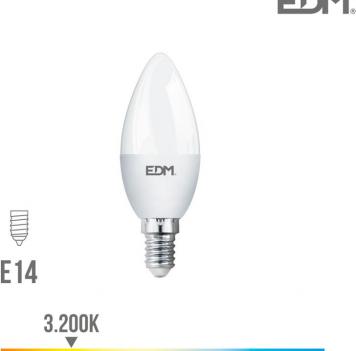 Lámpara Led Vela E-14 5 W luz cálida