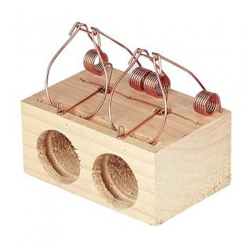 Ratonera madera 2 agujeros