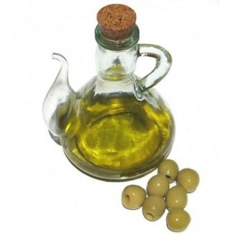 Aceitera cristal tapón de corcho
