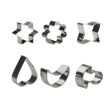Cortapastas inox 6 piezas